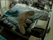 Hidden cam catches my mum masturbating