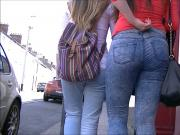 Candid ass teen in jeans