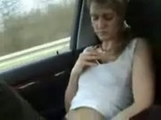 Jilling Off In A Car