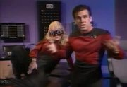 Busty Sally Layd in Star Trek spoof