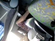 spy pantyhosed milf on the bus 2