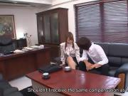 Hinata Komine getting initiated to the office ways