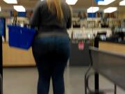 Tab Candids- Bbw Pawg in jeans fitting ass just right