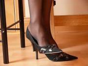 stockinged secretarial feet