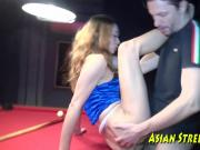 Anal Thai Lovely Buggered On Billiard Board