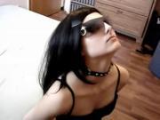 hot amateur chick gets facial