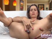 Lelu Love-Anal Plug Oily Fingering Masturbation