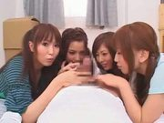 Four More Hot Asian Babes give a great Blow Job!!