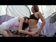 Threesome under the tent