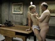 Uniform Man and Blonde Girl.