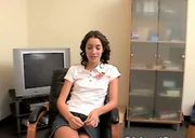 Lovely Chloe - At her dad's office again