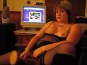 Home video - mature girl in black lingerie