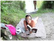 Deutsche bruenette Teens beim Outdoorsex