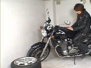 Japanese Biker Girl Creampie Uncensored