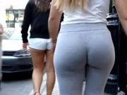 Candid sexy blonde whooty on the street