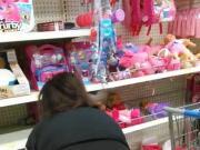 Me exibindo de legging justinha na loja brinquedos