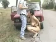 Couple from Serbia - outside fuck on Yugo car