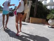 chasing bikini girl streets