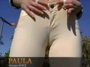 Paula feels good showing came toe in tight pants
