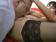 Old man and a sexy milf