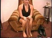 jolie blonde se masturbe