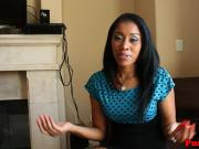 Ebony slut dominated roughly by maledom