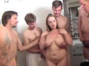 Team and busty slut
