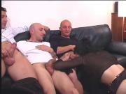 Italian Group - Tranny & Mature with DP