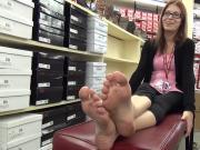 shoe store feet