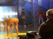 Anastasia Giousef hot dance on tv stage
