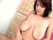 EU Busty Babe Plays With Her Wet Pussy