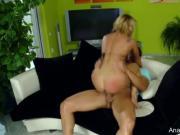 Dude Eats Out Blonde's Ass