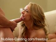 Amateur cutie goes hardcore in casting threesome