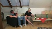 Drunk old bag gets banged by son in law