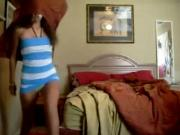 Hot girl dancing on web cam