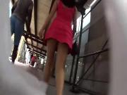 Upskirt Lady with Big Butt