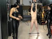 2 leather ladies with whips