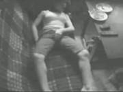 Real hidden cam. My sister masturbating in living room