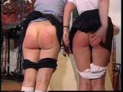 British professor spanks two naughty girl students