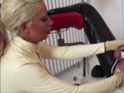Lady Kate fisted his ass with catheter in urethra