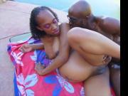 Exotic black pregnant
