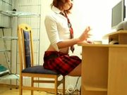 Schoolgirl Masterbates by snahbrandy