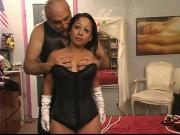 A little latina milf gets freaky with rope on the bed
