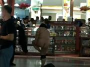 Asian woman naked inside airport