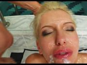 Hungarian Skinny Blonde Blowbang...analmente