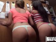 Mofos - Backroom foursome with hot teens