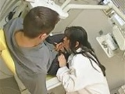 Sexy Brunette Dentist Giving Oral Exam then Fuck in Office