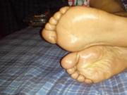 Gorgeous ebony toes and soles
