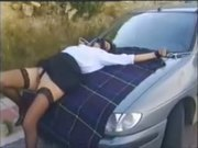 Amateur public dogging 1