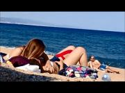 topless teens on barcelona beach